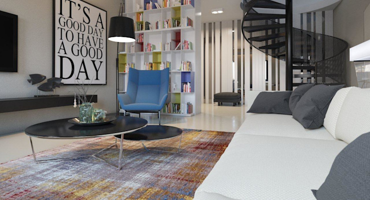 Пентхаус для денди Гостиная в стиле лофт от Архитектурное бюро DR House Лофт