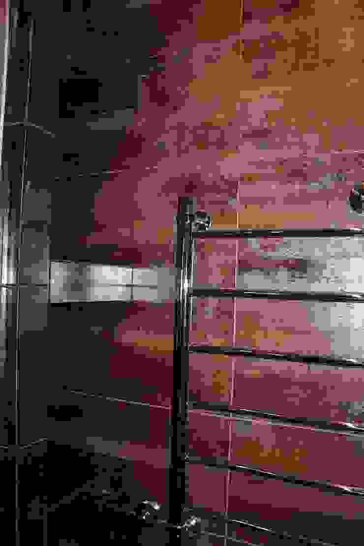 """Процесс ремонта квартиры в ЖК """"Янтарный"""" Ванная комната в стиле модерн от Студия интерьерного дизайна happy.design Модерн"""