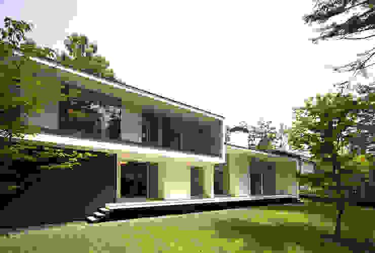 Casas de estilo  por 株式会社廣田悟建築設計事務所