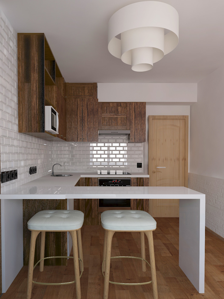 Кухня, вид 2 Кухня в скандинавском стиле от Марина Козлова Скандинавский