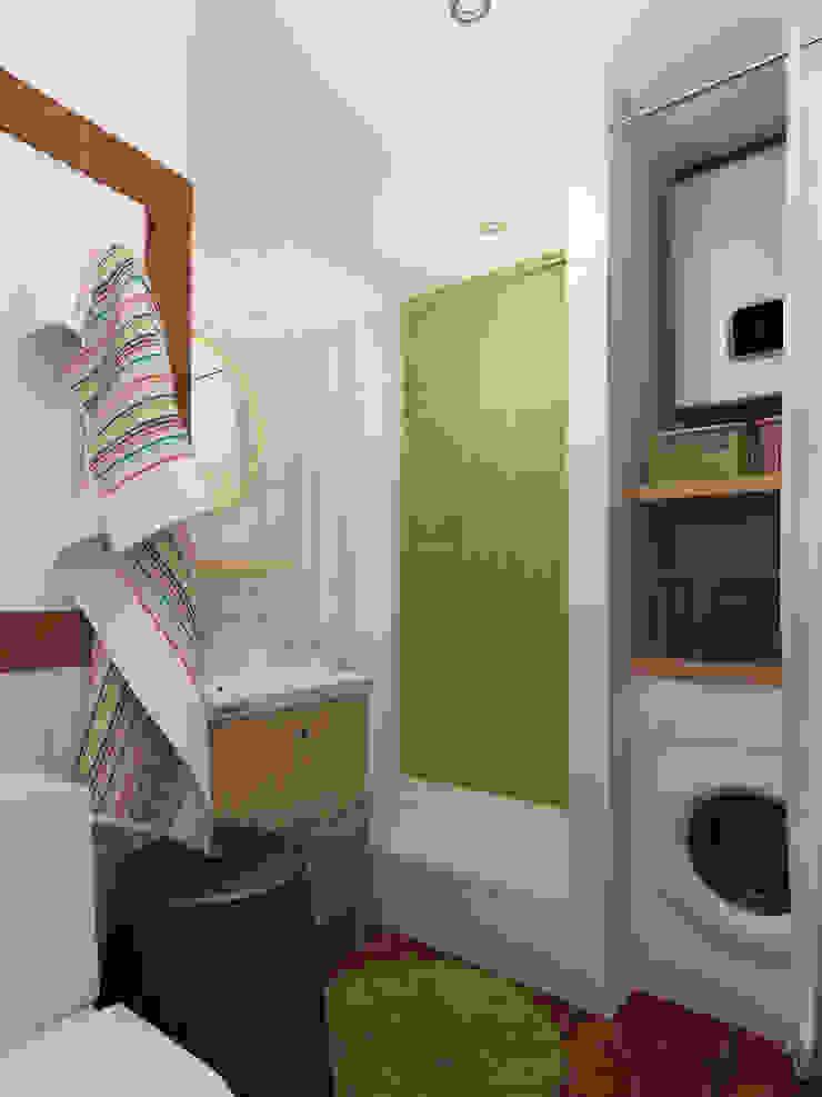 Ванная, вид 1 Ванная комната в скандинавском стиле от Марина Козлова Скандинавский