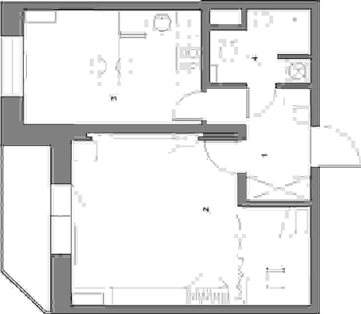 План помещения Стены и пол в скандинавском стиле от Марина Козлова Скандинавский