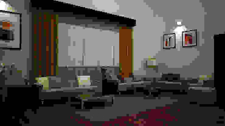 Hari C & Vanaja Residence Modern living room by dd Architects Modern