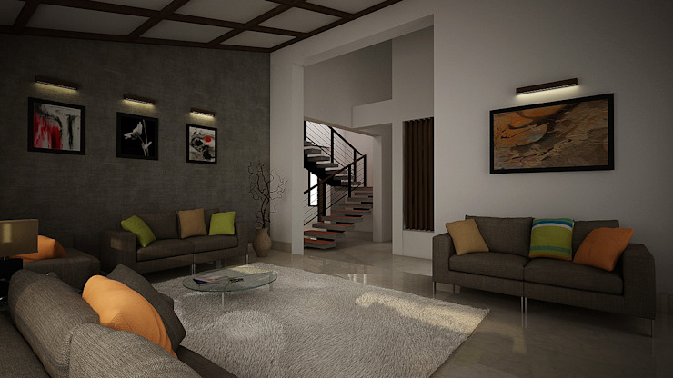 Rafiq Residence dd Architects Modern living room