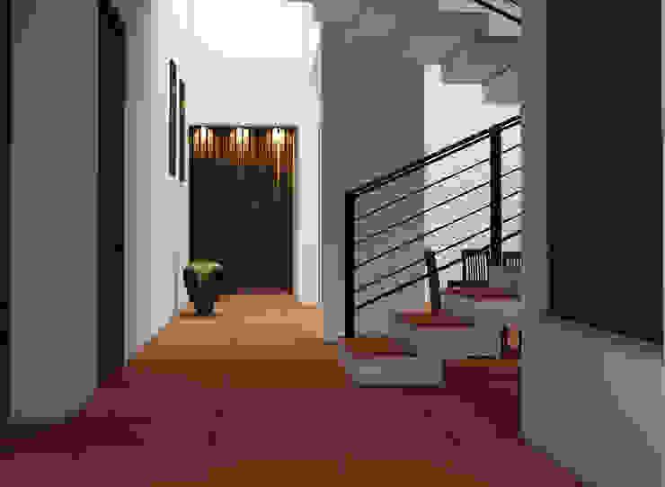 Rafiq Residence dd Architects Modern corridor, hallway & stairs