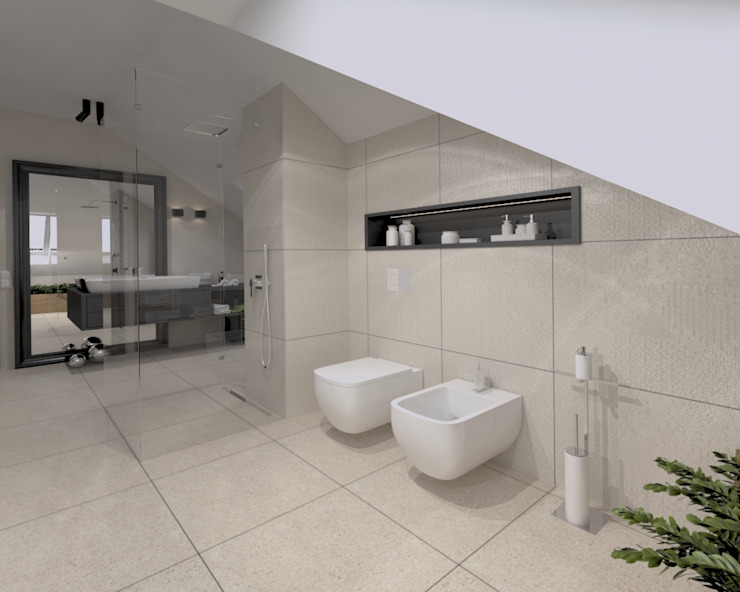 Modern Bathroom by The Vibe Modern Stone