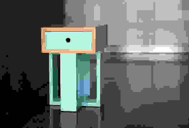 Banco Gaveteiro Box Mais por Farpa Minimalista Madeira maciça Multicolor