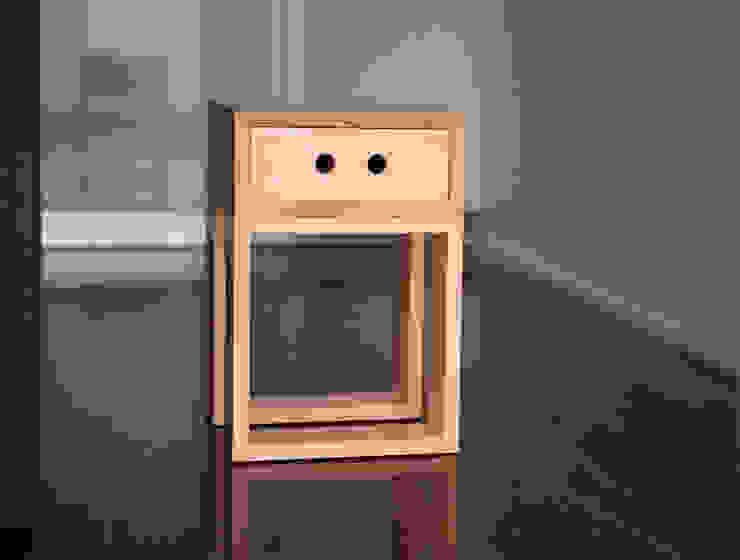 Banco Gaveteiro Box Igual por Farpa Minimalista Madeira Acabamento em madeira