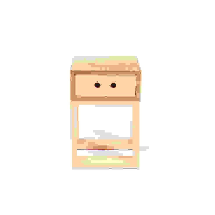 Banco Gaveteiro Box Igual por Farpa Minimalista Madeira maciça Multicolor