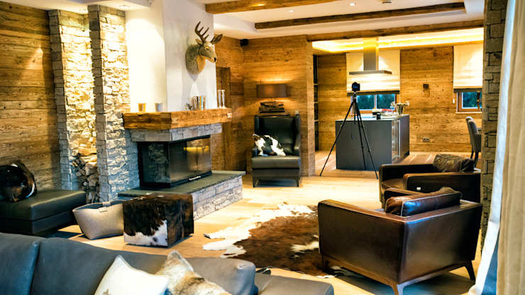Kitzbüheler Werkstätten Living roomFireplaces & accessories