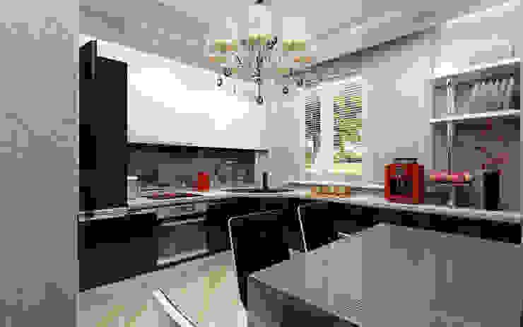 Практичная кухня Кухня в стиле модерн от Anfilada Interior Design Модерн