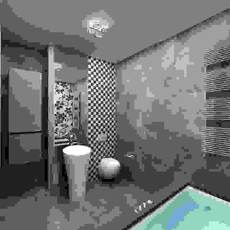 Холодный минимализм Ванная комната в стиле минимализм от Anfilada Interior Design Минимализм
