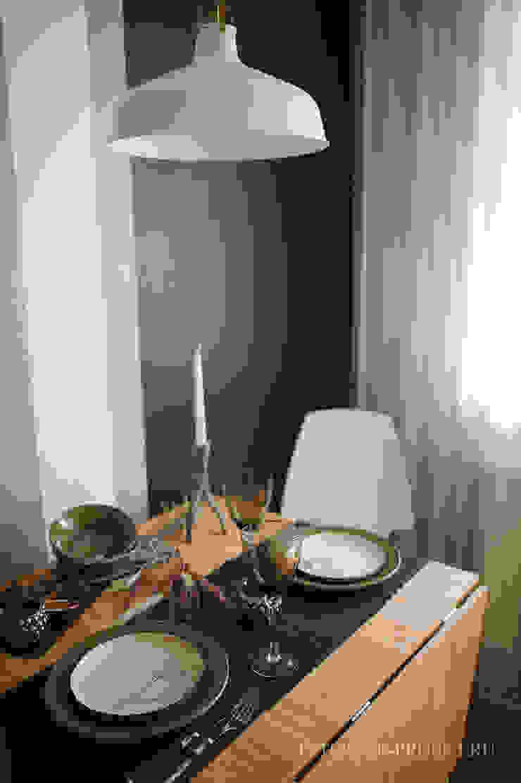 Квартира в скандинавском стиле Столовая комната в скандинавском стиле от ИНТЕРЬЕР-ПРОЕКТ.РУ Скандинавский