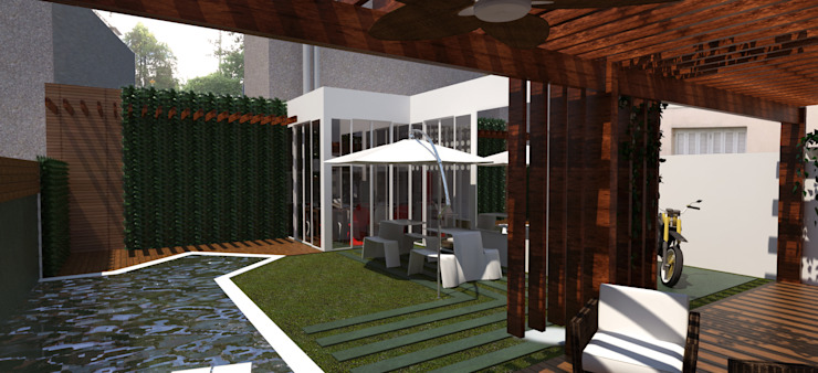 Área de Lazer Piscinas modernas por Cris Manzolli Arquiteta Moderno