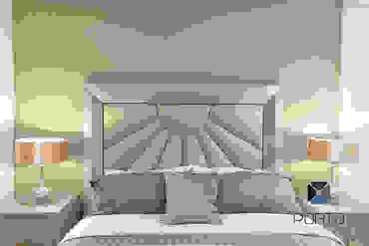Chambre originale par PORTO Arquitectura + Diseño de Interiores Éclectique