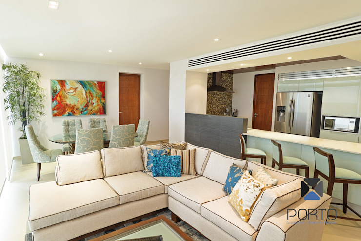 Eclectic style living room by PORTO Arquitectura + Diseño de Interiores Eclectic