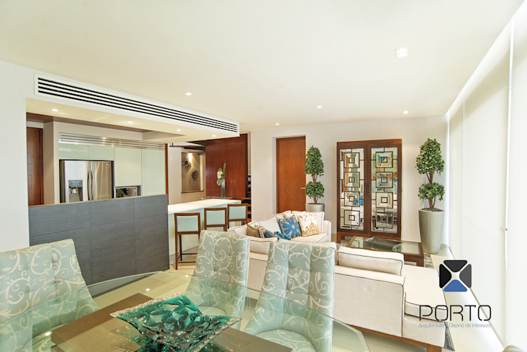 Ruang Makan Gaya Eklektik Oleh PORTO Arquitectura + Diseño de Interiores Eklektik