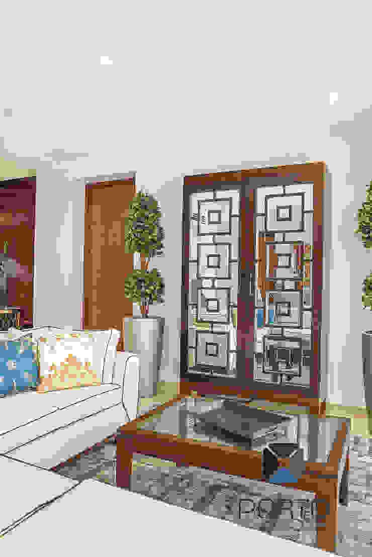 Ruang Keluarga Gaya Eklektik Oleh PORTO Arquitectura + Diseño de Interiores Eklektik