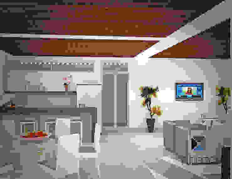 """Proyecto 'Penthouse Yucatan Country Club"""" Balcones y terrazas eclécticos de PORTO Arquitectura + Diseño de Interiores Ecléctico"""
