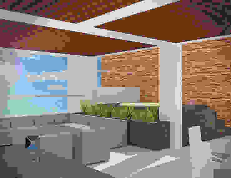 """Proyecto """"Penthouse Yucatan Country Club"""" PORTO Arquitectura + Diseño de Interiores Balcones y terrazas eclécticos"""