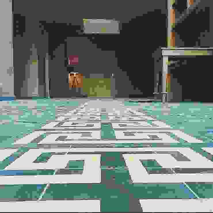 Flooring Mexican detail JCandel Casas estilo moderno: ideas, arquitectura e imágenes
