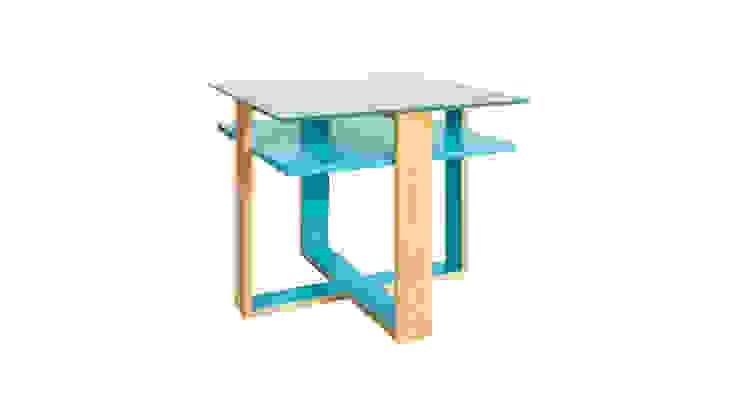 Mesa de centro Cruzeta por Farpa Minimalista Madeira Acabamento em madeira