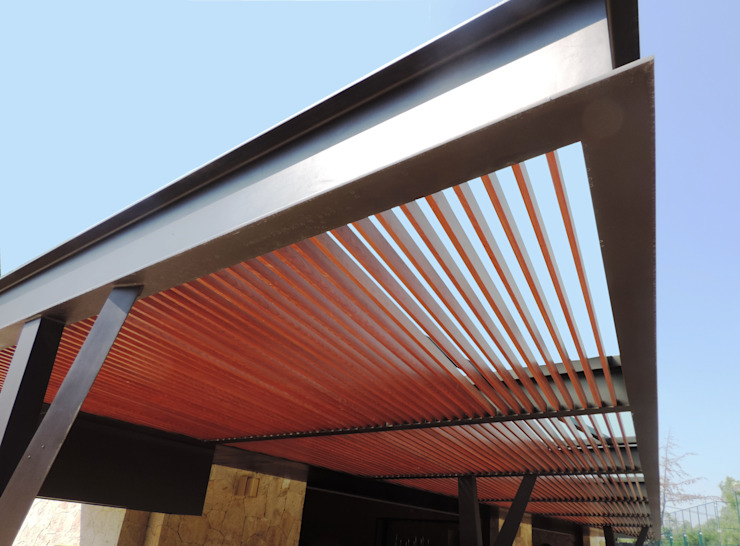 Modern Terrace by Productos Cristalum Modern Aluminium/Zinc