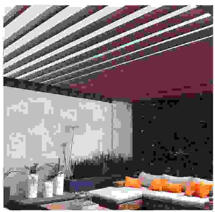 Pergolas Jardines modernos de Productos Cristalum Moderno Aluminio/Cinc