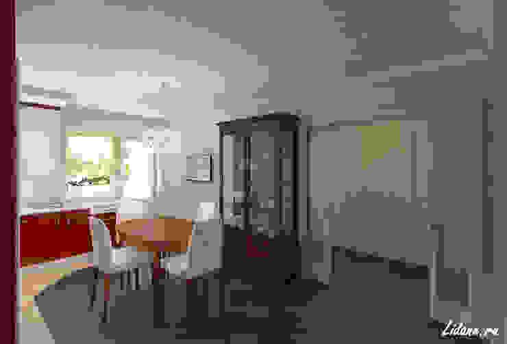 Семейные апартаменты. Москва Столовая комната в эклектичном стиле от Lidiya Goncharuk Эклектичный