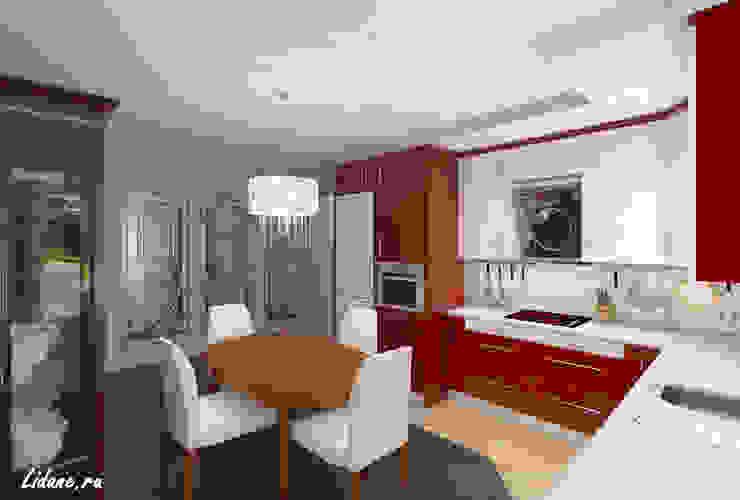 Семейные апартаменты. Москва Кухни в эклектичном стиле от Lidiya Goncharuk Эклектичный