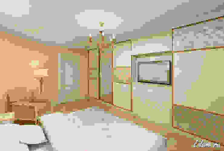 Семейные апартаменты. Москва Спальня в эклектичном стиле от Lidiya Goncharuk Эклектичный