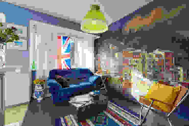 Rustik Oturma Odası Порядок вещей - дизайн-бюро Rustik