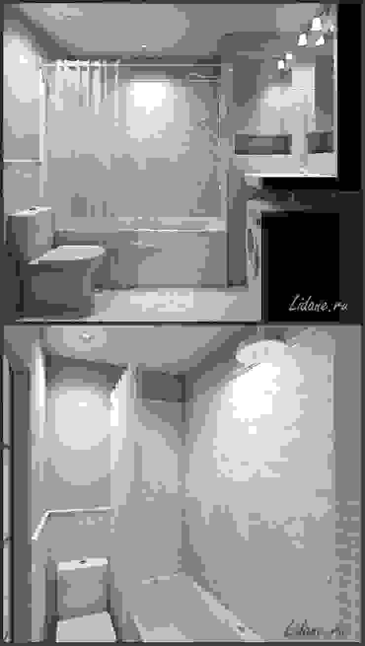 Студия в бирюзовых тонах. Сочи Ванная комната в стиле минимализм от Lidiya Goncharuk Минимализм