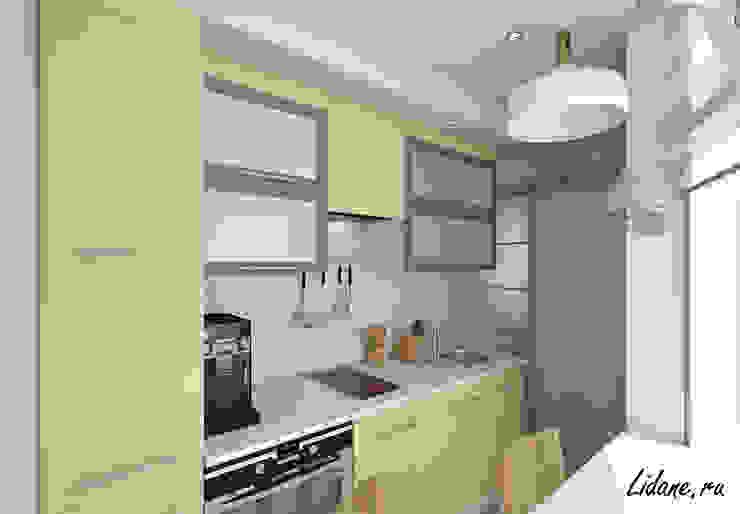Студия в бирюзовых тонах. Сочи Кухня в стиле минимализм от Lidiya Goncharuk Минимализм