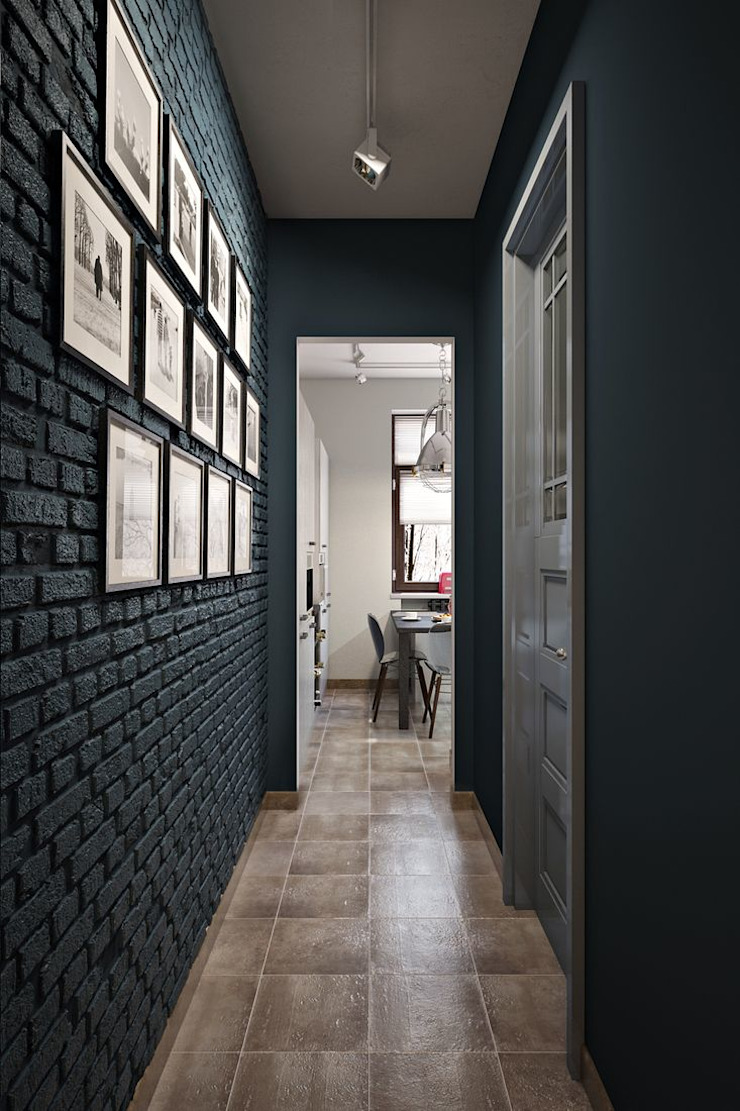ИНДУСТРИЯ КОМФОРТА Коридор, прихожая и лестница в стиле лофт от Дизайн студия Алёны Чекалиной Лофт