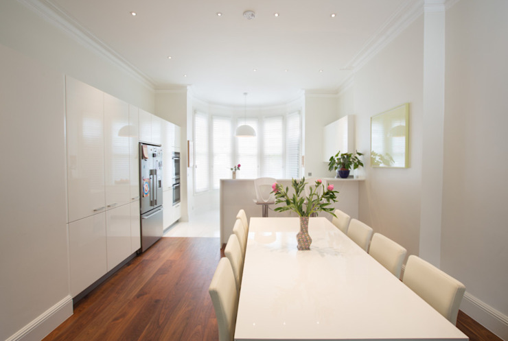 Aberdare Gardens, NW6 XUL Architecture Modern Dining Room White