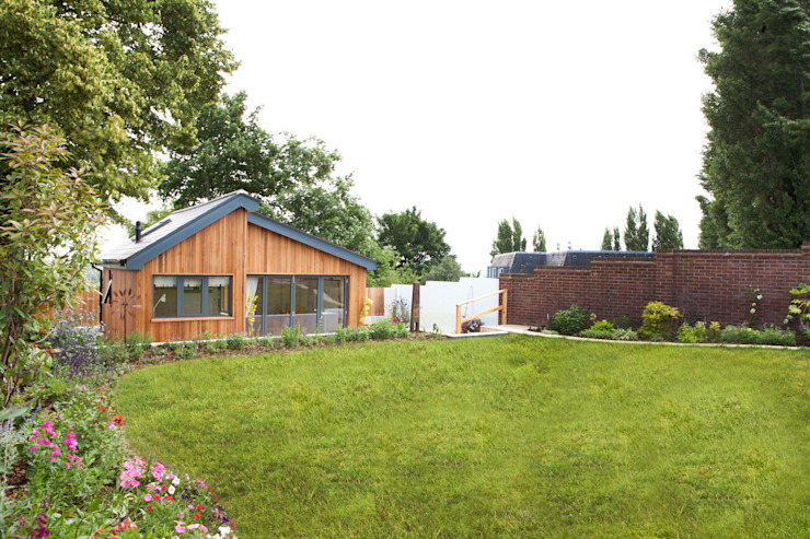 Modern garage/shed by homify Modern Wood Wood effect