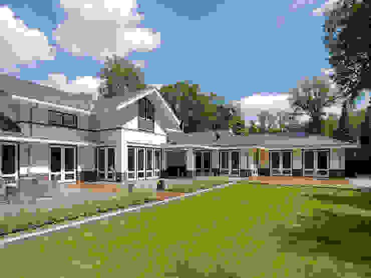 Villa te Doetinchem - Achtergevel Moderne huizen van Friso Woudstra Architecten BNA B.V. Modern