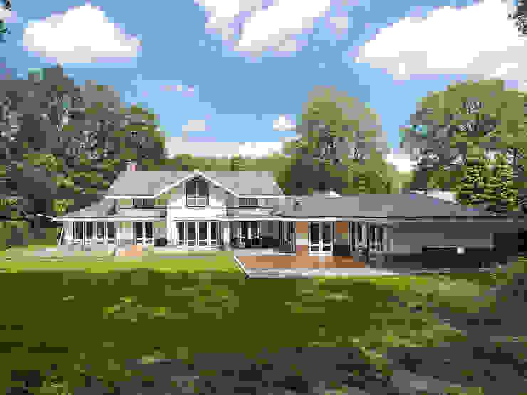 Villa te Doetinchem - Achtergevel - Tuin Moderne tuinen van Friso Woudstra Architecten BNA B.V. Modern