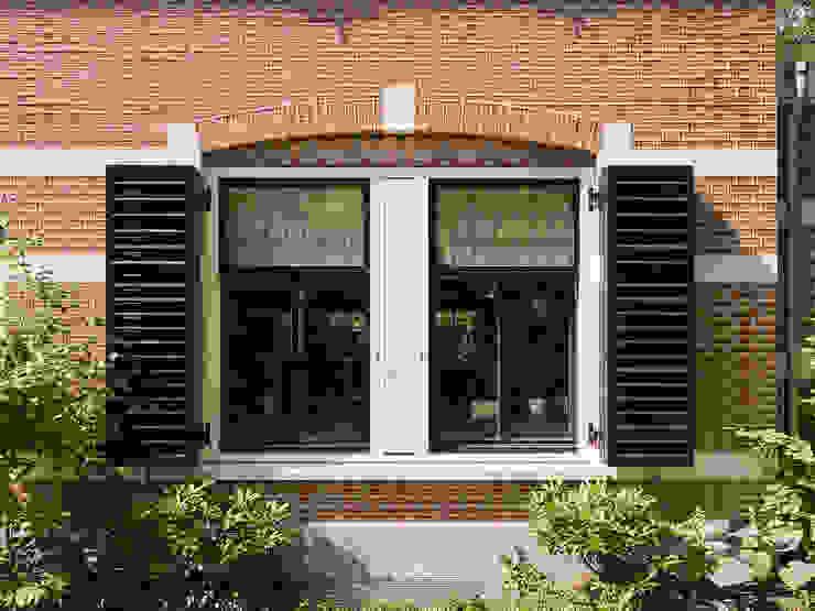 Villa te Zeist - Detail raamkozijn Eclectische ramen & deuren van Friso Woudstra Architecten BNA B.V. Eclectisch
