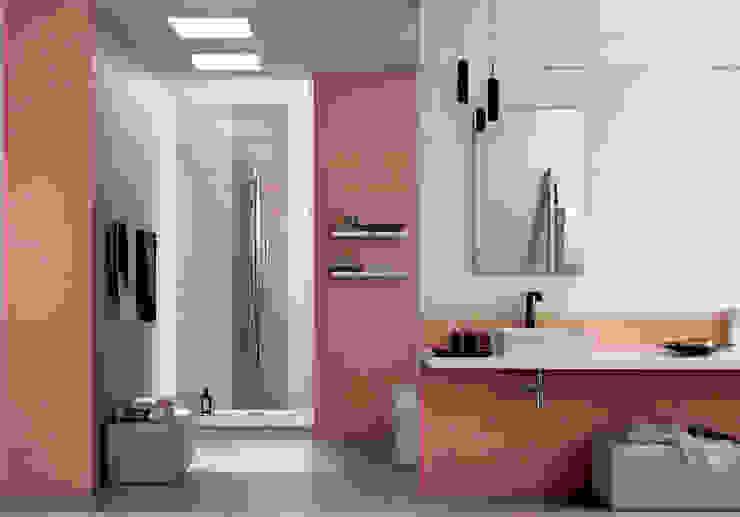Azulejos de baño en varios tonos y formatos para dar un aire nuevo y moderno a nuestra decoración Baños modernos de Azulejos Peña s.l. Moderno Azulejos