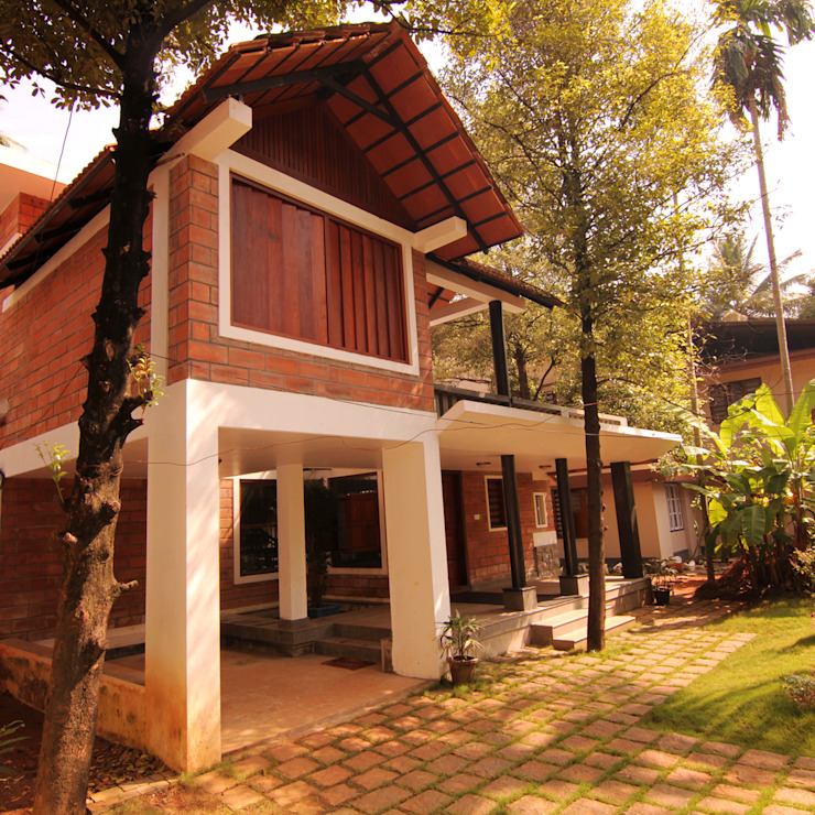 Meera & Dinesh Residence Rustic style houses by dd Architects Rustic