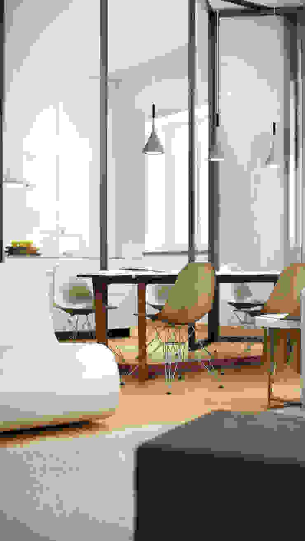 AUS 01 Apartment no.3 in Turin 3Dedintorni WohnzimmerHocker und Stühle