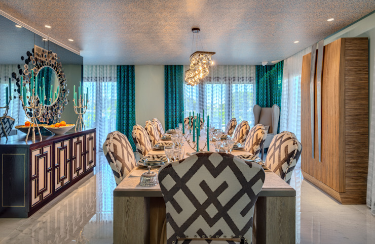 Eclectic style dining room by Viterbo Interior design Eclectic