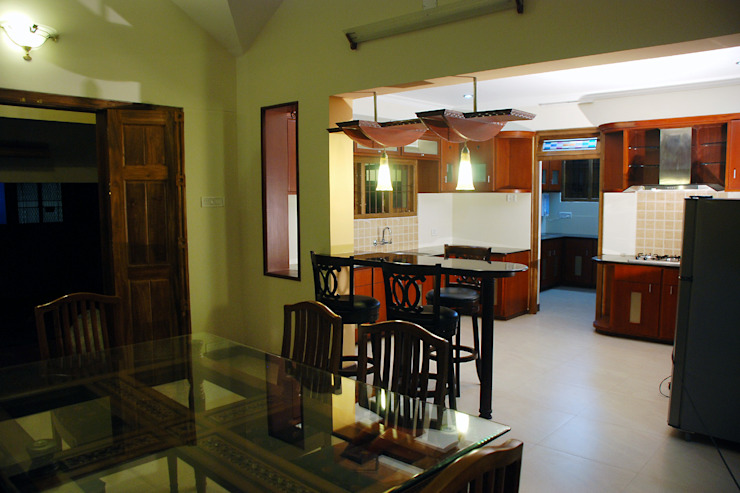 Krishnakumar Residence Classic style dining room by dd Architects Classic