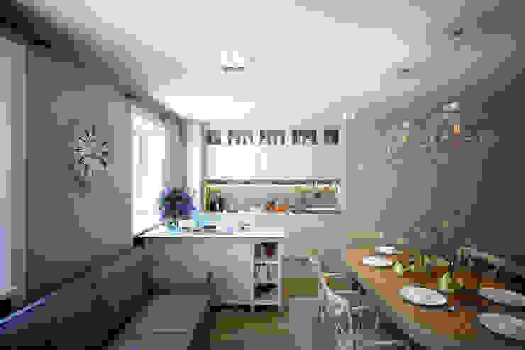Столовая совмещенная с кухней Столовая комната в скандинавском стиле от lab21studio Скандинавский