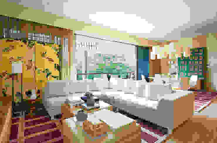 Geometric Harmony Salas de estar ecléticas por Viterbo Interior design Eclético