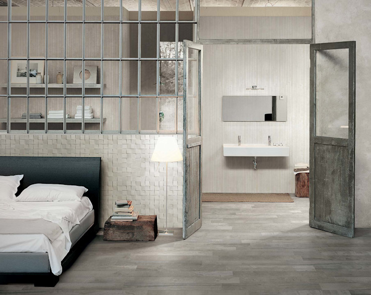 Industrial style bedroom by Azulejos Peña s.l. Industrial Tiles