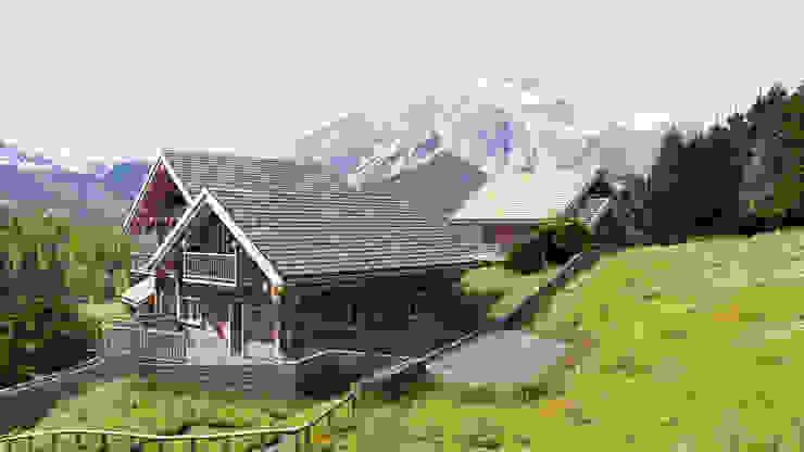 SAN SICARIO CHALET RENDERING Rustic style houses by 3Dedintorni Rustic