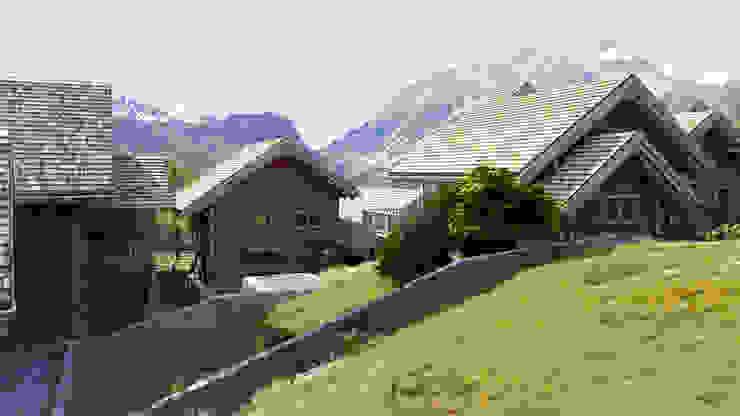 SAN SICARIO CHALET RENDERING Rustykalne domy od 3Dedintorni Rustykalny